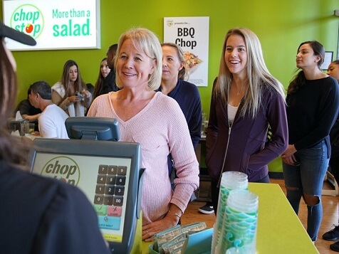 Chop Stop Franchise - Customers in line